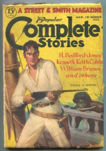 Complete Stories Pulp March 1st 1932- Canary Kid VG+