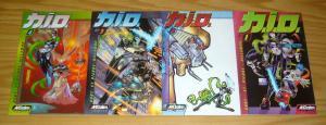 N.I.O. #1-4 VF/NM complete series - acclaim comics - nio - shon bury/st. pierre