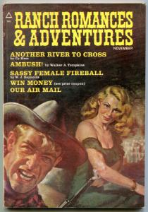 Ranch Romances and Adventures Pulp November 1971- Sassy Female Fireball