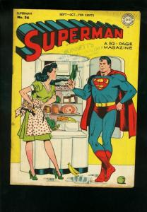 SUPERMAN #36 1945-DC COMICS-LOUIS LANE COVER FN-