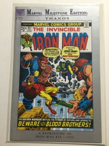 Marvel Milstone Edition Iron Man 55 Reprint 1st First Apperance Thanos Marvel