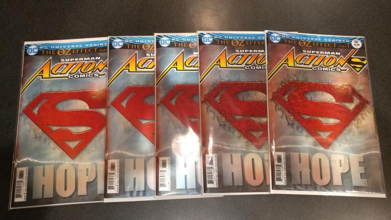 LOT OF 5 ACTION COMICS #987 LENTICULAR COVERS
