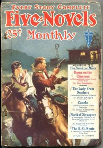 FIVE NOVELS MONTHLY-MARCH 1933-CLAYTON ADVENTURE PULP-GAUCHO