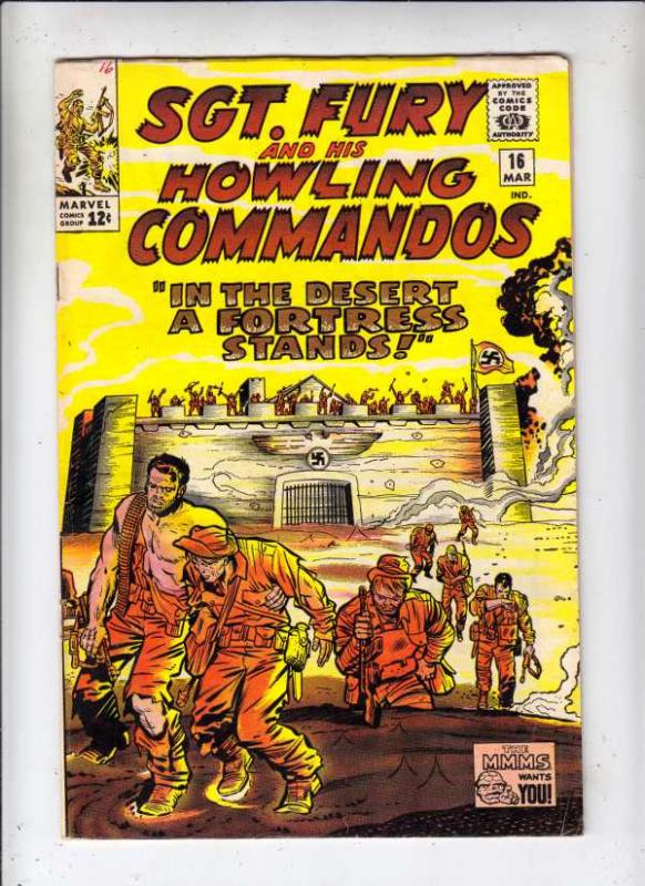 Sgt. Fury and His Howling Commandos #16 (Mar-65) FN/VF Mid-High-Grade Sgt. Fu...