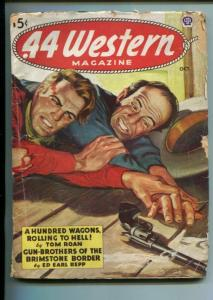.44 WESTERN-11/1945-WESTERN PULP THRILLS-BAR ROOM GUNFIGHT-ROAN-REPP-good