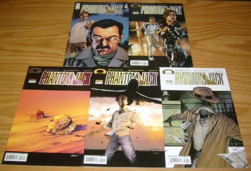 Phantom Jack #1-5 VF/NM complete series INVISIBLE MAN IS REPORTER IN IRAQ WAR