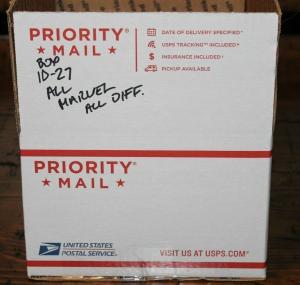 Medium Priority Mail Box Full of All Different Marvel Comics Bulk Mixed Condit.