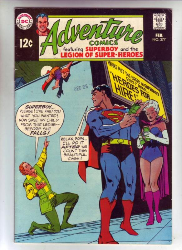 Adventure Comics #377 (Feb-69) VF High-Grade Legion of Super-Heroes, Superboy