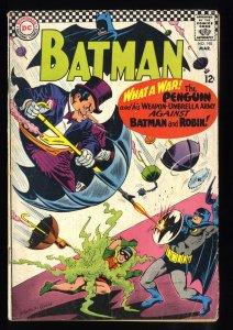 Batman #190 VG- 3.5 Penguin Cover!