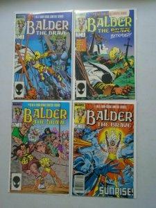 Balder the Brave set #1-4 6.0 FN (1985)