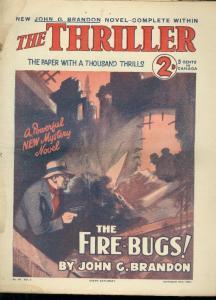 THRILLER-BRITISH DIME NOVEL-OCT 25 1930-FIRE BUGS FR/G