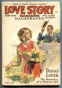 Love Story Pulp May 14 1927- Diana's Lover- Modest Stein cover