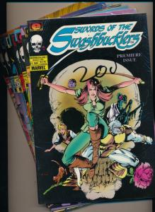Epic Comics Lot of 8  WORDS OF THE SWASHBUCKLERS #1-3, #8-12 VF/NM (PF60)