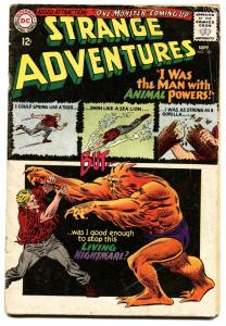 STRANGE ADVENTURES #180-1966-Origin and first appearance of ANIMAL MAN DC