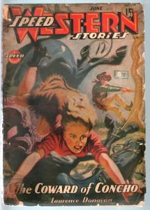 SPEED WESTERN STORIES 1944 JUN-GREAT SPICY PULP G