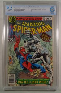 Amazing Spider-Man #190 CBCS 9.2 White Pages Man-Wolf Marvel