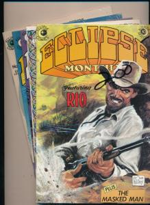 Eclipse Comics LOT of 5! ECLIPSE MONTHLY #3,#5,#7,#9,#10 VERY FINE (HX866)