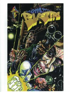 The Ghetto Blasters #1 VF signed by Philip Lee - black hero - afrocentric