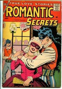 Romantic Secrets #17-1958-Charlton-mask cover-classic issue-VG+