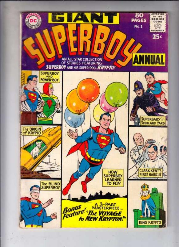 Superboy Annual #1 (Jun-64) VG/FN+ Mid-Grade Superboy