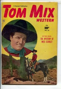 Tom Mix Western #38 1950-Fawcett-Tom on Tony photo cover-Carl Pfeufer story a...