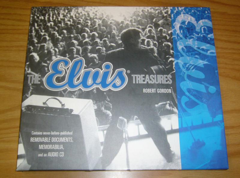 the Elvis Presley Treasures HC VF/NM hardcover with slipcase - memorabilia + CD