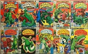 GODZILLA KING OF THE MONSTERS#1-16 VF LOT 1978 (10 BOOKS) MARVEL COMICS