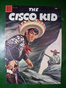 THE CISCO KID 27 VF- Dell Painted Cover 1955 Pancho