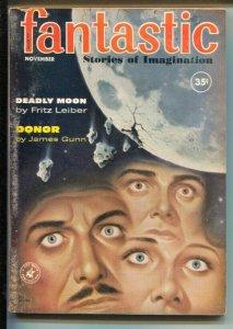 Fantastic 11/1960-Ziff-Davis-eyeball cover-Fritz Leiber-Poul Anderson-VG
