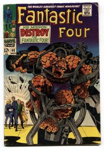 Fantastic Four #68 comic book 1967- Marvel Silver Age- Kirby vg