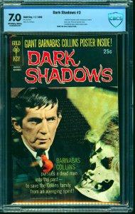 Dark Shadows #3 CBCS FN/VF 7.0 Off White to White
