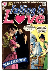 FALLING IN LOVE #117 1970-DC ROMANCE COMICS BRIDE COVER VG