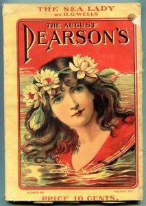 Pearson's Pulp Magazine August 1901- Sea Lady HG Wells- Hogan the Hobo
