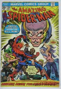 AMAZING SPIDER-MAN  #138 (Marvel,11/1974) VERY GOOD (VG) Mindworm Conway & Andru