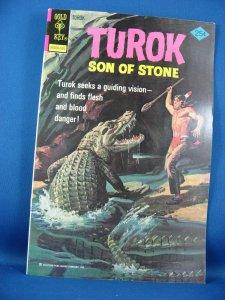 TUROK SON OF STONE 94 VF NM Gold Key 1975 Dinosaur Cover