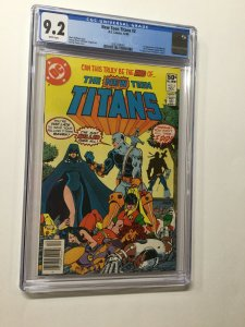 New Teen Titans 2 Cgc 9.2 Newsstand Edtion White Pages 1st Trigon  Deathstroke