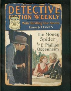 DETECTIVE FICTION WEEKLY PULP-10/13/28-CRIME & MYSTERY! P