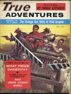 True Adventures  1/1957-Tommy Gun-Jeep-Mort Kunstler-Norman Saunders-VG