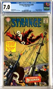 Strange Adventures 205 Cgc 7.0 Ow Pages 1st Deadman Dc Comics