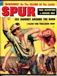 Spur 4/1959-Stanley Pubs-Good Girl Art cover-pulp exploitation-Frankenstein-VF-