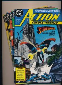 DC Action Comics #611,614,616,619,621 Superman/Green Lantern/Blackhawk (SRU135)
