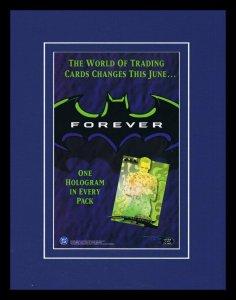 1995 Fleer Batman Forever Cards Framed 11x14 ORIGINAL Vintage Advertisement