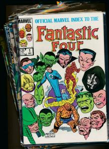 MARVEL set of 12- OFFICIAL INDEX TO FANTASTIC FOUR #1-#12  VF/NM (PF740)
