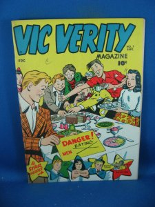 VIC VERITY MAGAZINE 7 F+ ROCKET REX 1946