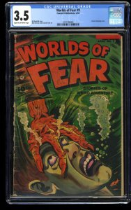 Worlds of Fear #9 CGC VG- 3.5 Cream To Off White