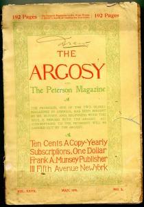 Argosy May 1898-Phantom Army- Early Pulp fiction title G-