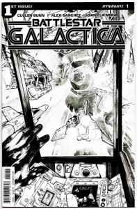 Battlestar Galactica #1 B&W Sanchez Variant (Dynamite, 2016) VF