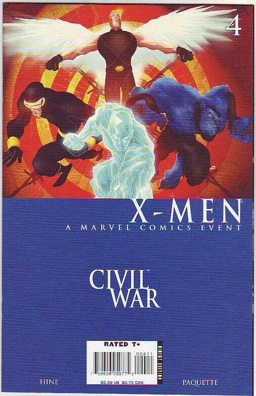 Civil War X-Men #4 (Dec-06) NM+ Super-High-Grade X-Men