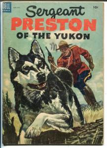 Sergeant Preston #8 1953-Dell-RCMP stories-Yukon King-G/VG