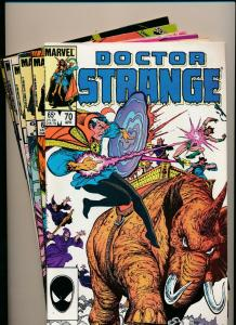 LOT of 6 Comics! Marvel DOCTOR STRANGE #70-75 VG/F/VF (PF804)